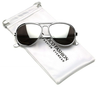 Cool Kids Aviator UV400 Sunglasses for Babies and Toddlers age 0 to 4 Silver