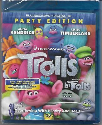 Blu-ray/DVD: Trolls (Party Edition, includes Digital Copy, Canadian, 2017) New