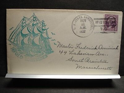Frigate USS CONSTITUTION Naval Cover 1932 OLD IRONSIDES Cachet