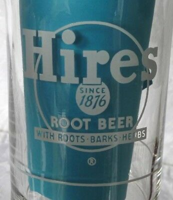 1940's Hires Root Beer, Syrup Line Glass. Never Used. Roots-Barks-Herbs