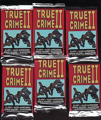 1992 Eclipse New > An Unopened 6 Pack True Crime 2 < Foil Pack Trading Cards
