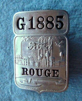 "Vintage Ford Motor CO EMPLOYEE BADGE: ROUGE (MI) Automotive ""G"" Foundry Factory"
