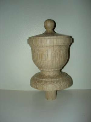 WOOD FINIAL UNFINISHED FOR NEWEL POST FINIAL OR CAP  Finial #48