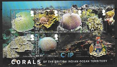 British Indian Ocean Terr 2017 Corals M/s Mnh