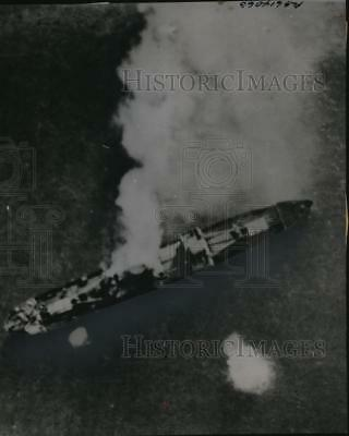 1941 Press Photo Air view of German ship Else bombed by the RAF