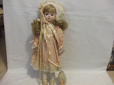 House of Lloyd Bo Peep Doll with staff and sheep,  18inches, 1989, USED