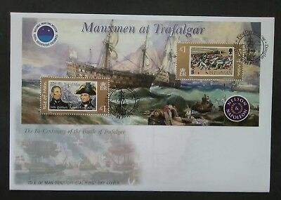 Isle of Man 2005 Lord Nelson / Trafalgar (miniature sheet) First Day Cover