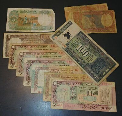 179 RUPEES iold worn INDIA paper money NR worth looking at