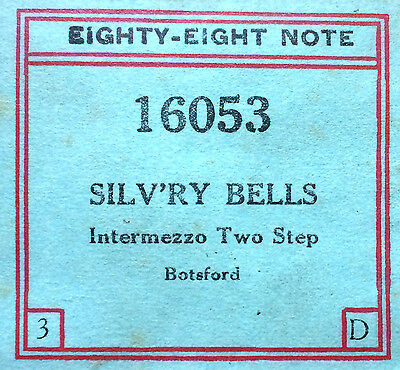 Eighty Eight Note SILV'RY BELLS 16053 All Original Botsford Player Piano Roll