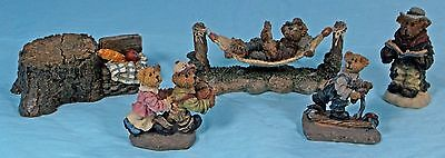 Lot Of 5  Boyds Bears Town Village Figurine Accessories  Year 2000