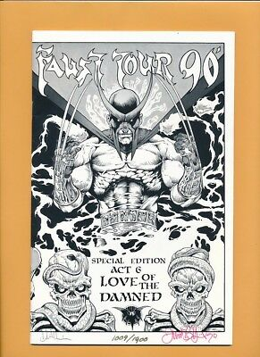 FAUST TOUR '90 Signed VIGIL Quinn SPECIAL EDITION Comic LED #1009/1900 NM 9.2