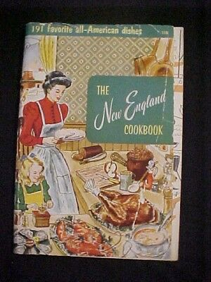 Vintage Antique Old 1956 New England Cookbook Culinary Arts Old Time Recipes