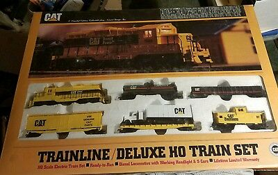 Walthers Train Line Deluxe Ho Caterpillar Tractor Train Set Limited Edition New.