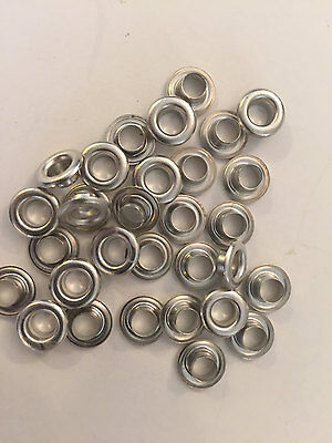 """500 pieces Stimpson #2 Nickel Plated 3/8"""" Solid Brass Self Piercing Grommet ONLY"""