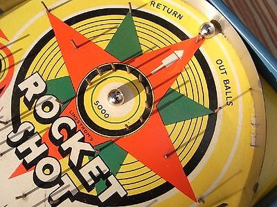 "Art Deco Tisch - Flipper Lindstrom Flipperspiel "" Rocket Shot "" Game Kugelspiel"