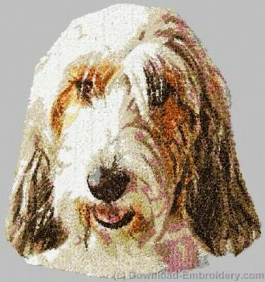 Embroidered Short-Sleeved T-shirt - Petit Basset Griffon Vendeen DLE2502