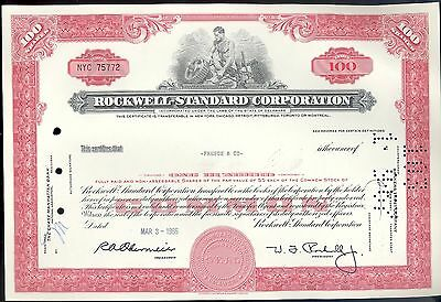 ROCKWELL-STANDARD CORPORATION Shares Stock Certificate