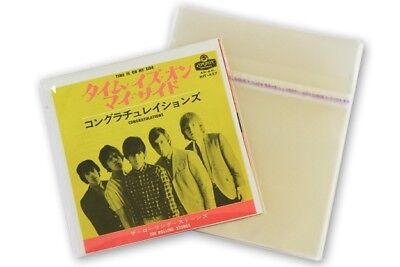 """100 Stk 7"""" Record ORIGINAL Plastic KATTA Outside (Outer) SLEEVES - made in Japan"""