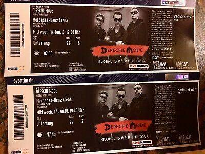 2x karten tickets depeche mode mercedes benz arena for Mercedes benz tickets