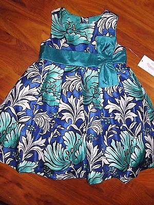 2 4 5 T Gymboree Teal Blue Floral Emerald Party Dress Easter Toddler Girl NWT