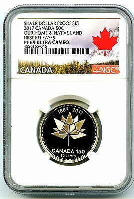 2017 Canada 150Th Anniversary Proof 50 Cent Ngc Pf69 First Releases Half Dollar