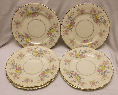 """Syracuse China Briarcliff Federal Shape 10"""" Dinner Plates Group Of 6"""