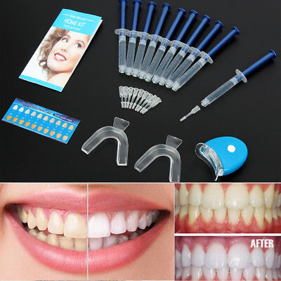 61921652f3e USA TEETH WHITENING Kit (10) Tubes (2) Trays (1) White LED Light ...