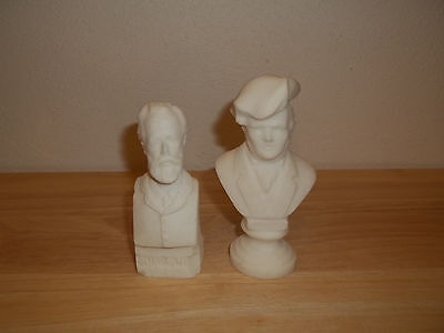 Small Chalkware Busts Of Tchaikovsky And Wagner