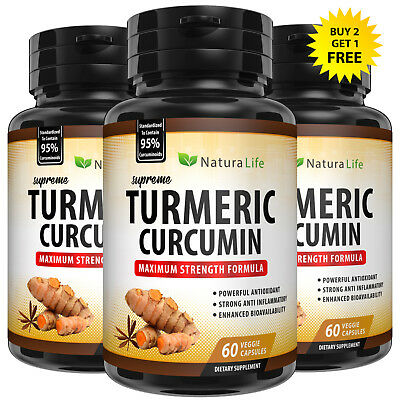 SUPREME TURMERIC 95% CURCUMIN EXTRACT EQUAL TO 10,000mg PLUS BIOPERINE CAPSULES