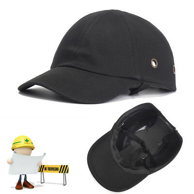 Black Baseball Bump Caps - Lightweight Safety hard hat head protection Caps