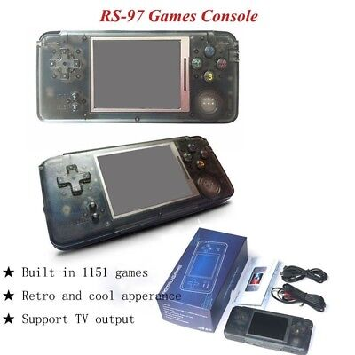 RS-97 Handheld Game Console Retro MP4 Player 1151 Game Player Support TV Output