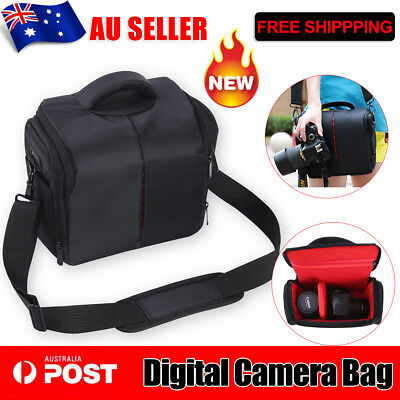 Waterproof AU POST SLR DSLR Lens Camera Bag Carry Case For Nikon Canon Sony