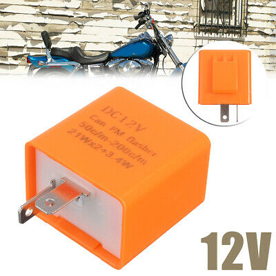 New 2Pin Adjustable LED Flasher Relay For Motorcycle Turn Signal Indicator