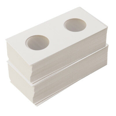 100X Cardboard Coin Holders Flips Mylar Coin Collection Supply 29/33mm White