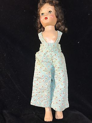 Vintage Homemade? Effanbee Dolls Clothes Overall With Jacket