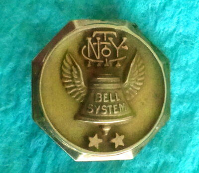 Vintage NEW YORK BELL SYSTEMS Employee Service Award Pin Badge: 10K Gold
