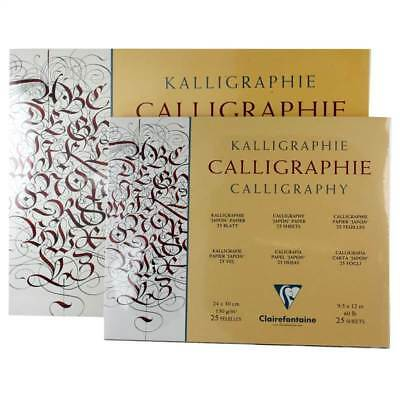 """Clairefontaine Calligraphy """"Japon"""" Paper - 25 Sheets - Assorted Sizes!"""