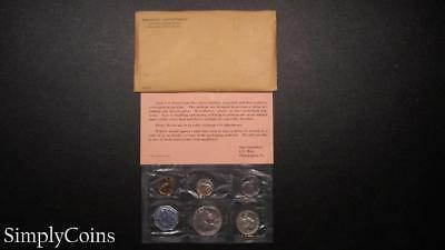 1962 Proof Set ~ Original Envelope With COA ~ US Mint Silver Coin Lot SKU-864