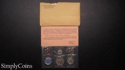1963 Proof Set ~ Original Envelope With COA ~ US Mint Silver Coin Lot SKU-865