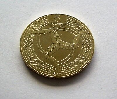 """NEW TOWER MINT 2017 ISLE OF MAN £5 FIVE POUND COIN - IoM MANX """"3 LEGS"""" TRISKELES"""