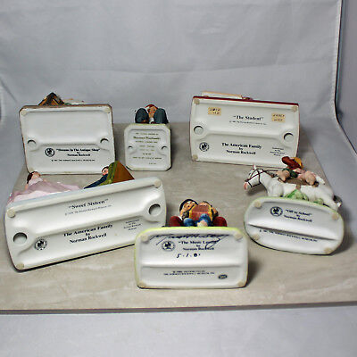 Lot of 6 Norman Rockwell Porcelain Figurines No Box or CoA (TN00155)