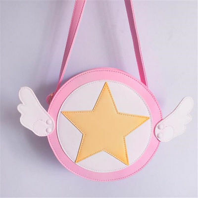 Newly Girls Shoulder Bag Card Captor Sakura Kinomoto Cross Body Bag Purse Wallet