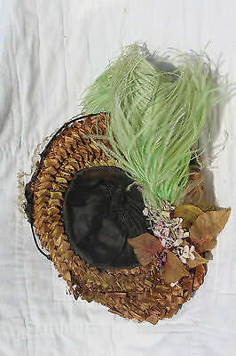 Late 1800s ANTIQUE BEBE DOLL BONNET HAT for JUMEAU, STEINER, BRU FRENCH DOLLS