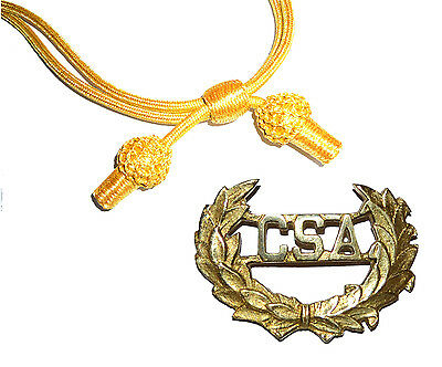 American Civil War Confederate CSA Officers Badge With Gold Slouch Hat Cord