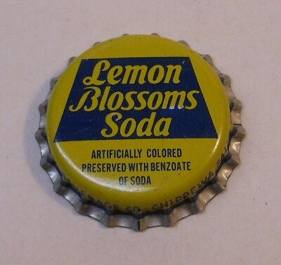 Vintage Lemon Blossoms..cork..unused..Soda Bottle Cap