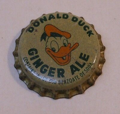 "Vintage Don Duck ""Ginger Ale""..cork..unused..Soda Bottle Cap"