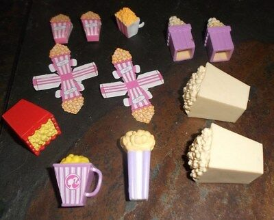 Barbie Ken Kelly Doll House Kitchen Dining Food Dishes - Popcorn Containers
