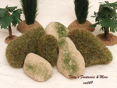 "Fontanini Italy 5"" Moss Stones 6Pc Nativity Village Accessory Set 59535 Nip"