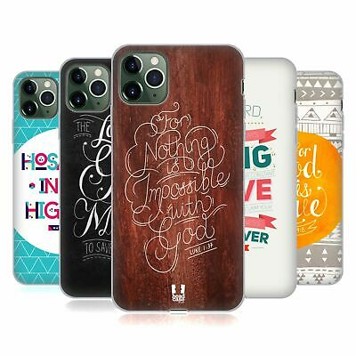 HEAD CASE DESIGNS FAMOUS BIBLE VERSES SOFT GEL CASE FOR APPLE iPHONE PHONES
