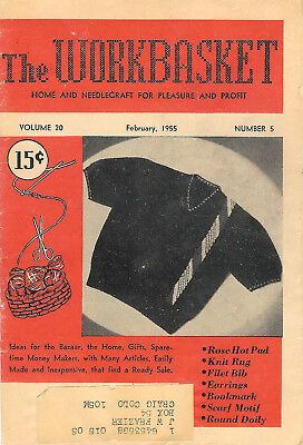 1955 Seven Issues of The Workbasket Magazine Vol. 20 No. 5 To Vol. 21 No. 1